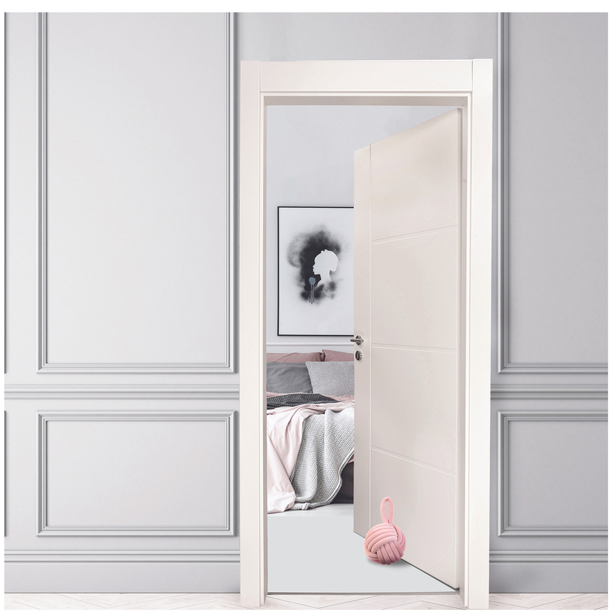 Cale porte velours \'Pelote\' rose - 14x24 cm - [R0286]