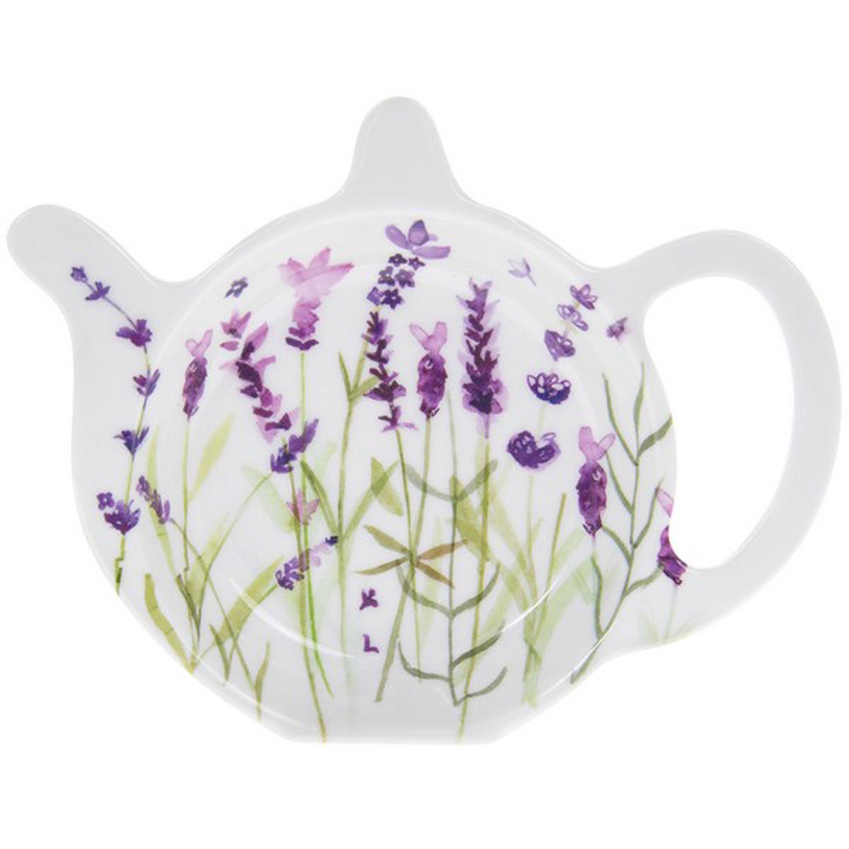 Repose sachets \'Lavande\' violet blanc - 12x98 cm - [R0606]