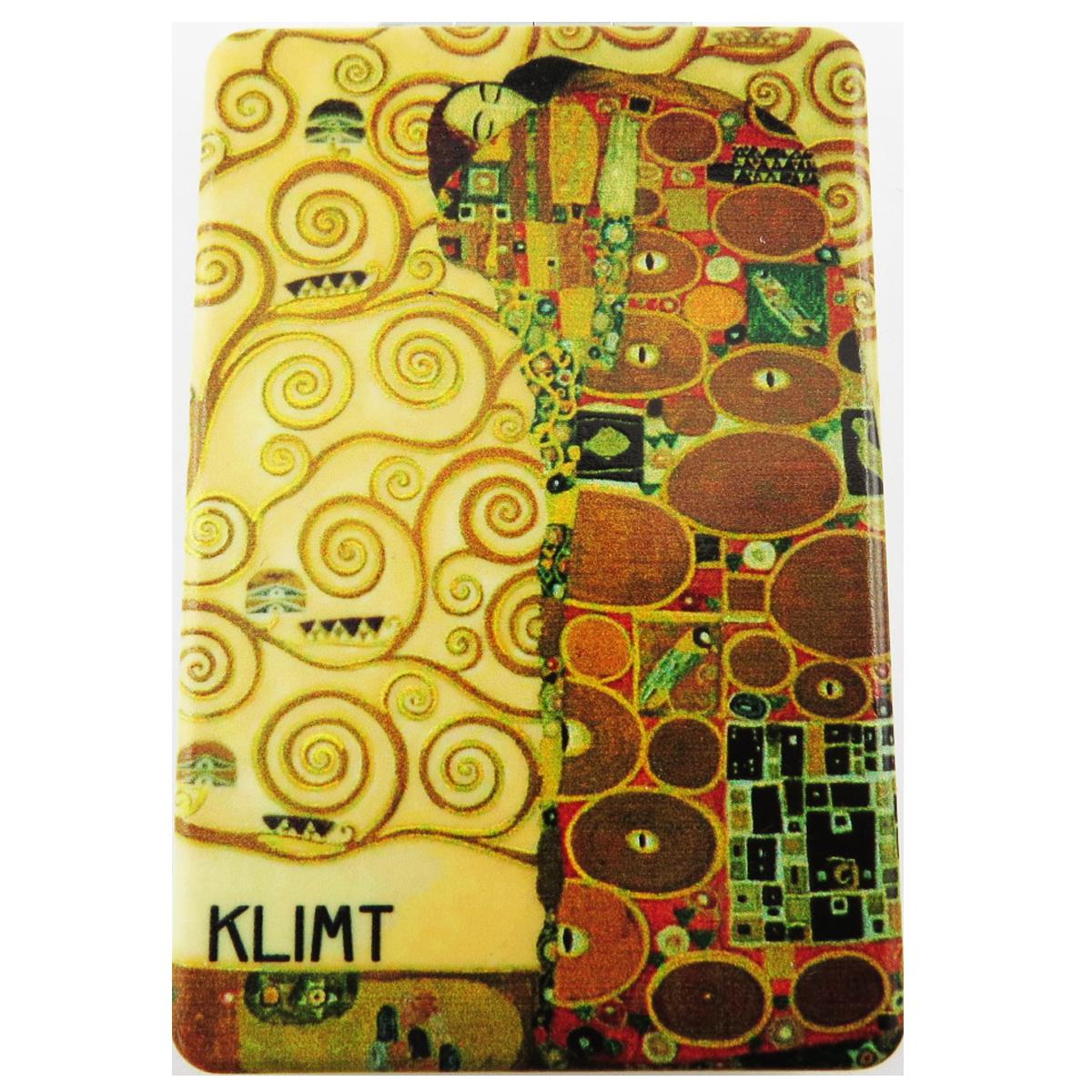 Miroir de poche \'Klimt\' jaune marron (Arbre de vie) - 85x55 cm - [R1894]