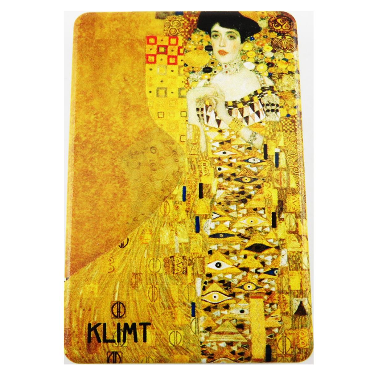 Miroir de poche \'Klimt\' jaune marron (Adèle) - 85x55 cm - [R1895]