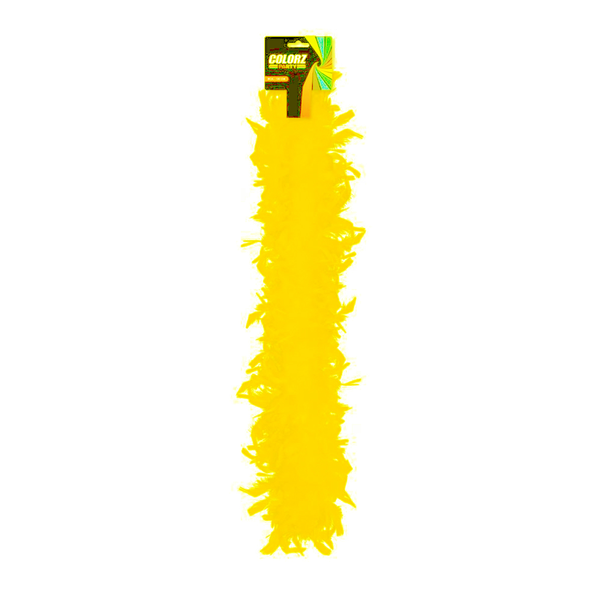 Boa \'Coloriage\' jaune - 185 cm - [R2083]