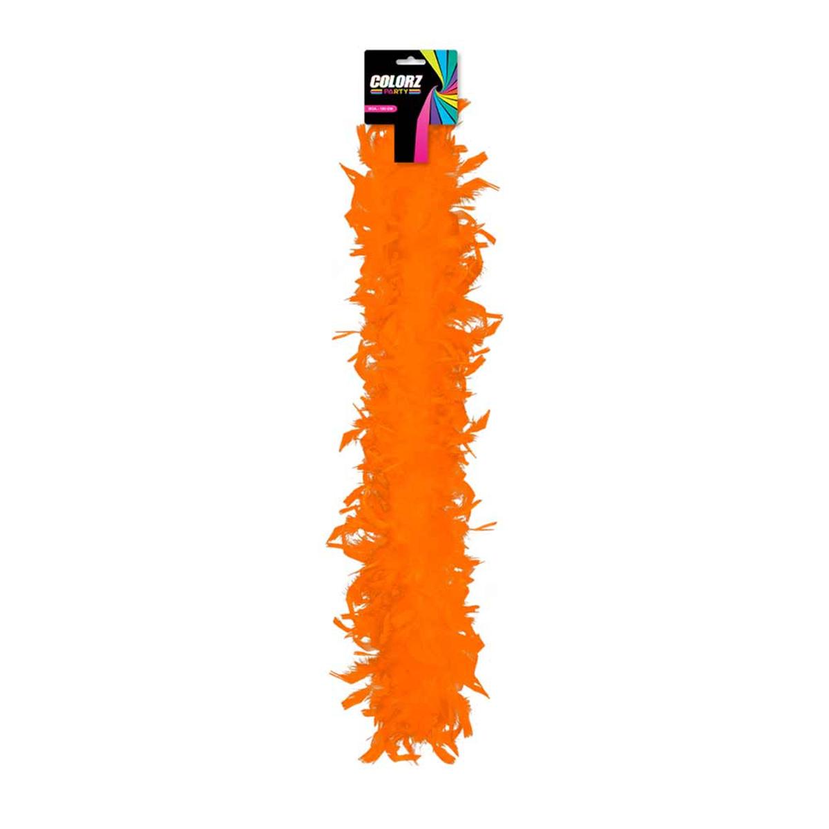 Boa \'Coloriage\' orange - 185 cm - [R2086]