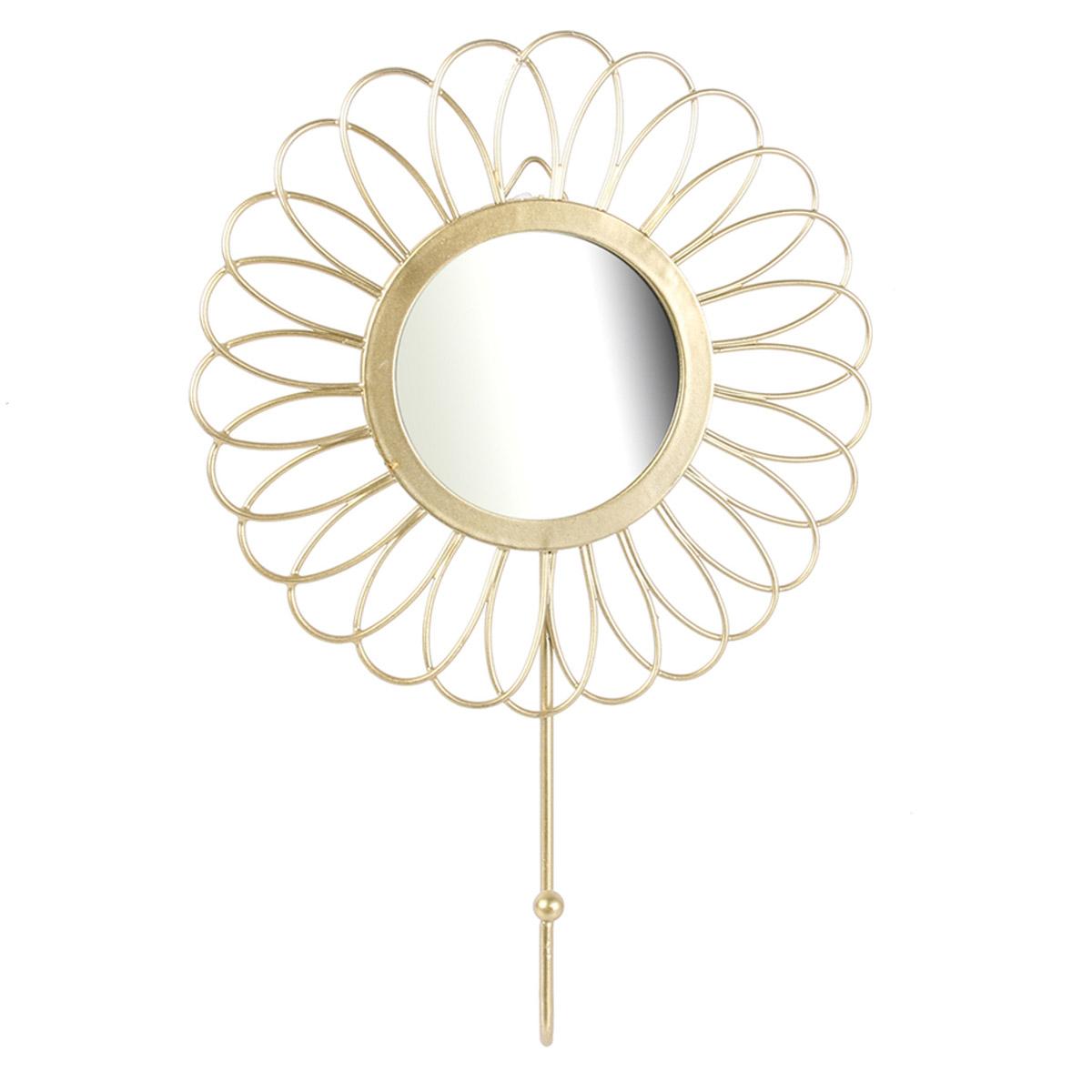Patère filaire métal \'Cléopatra\' doré (flora) - 20x15 cm - [R2381]