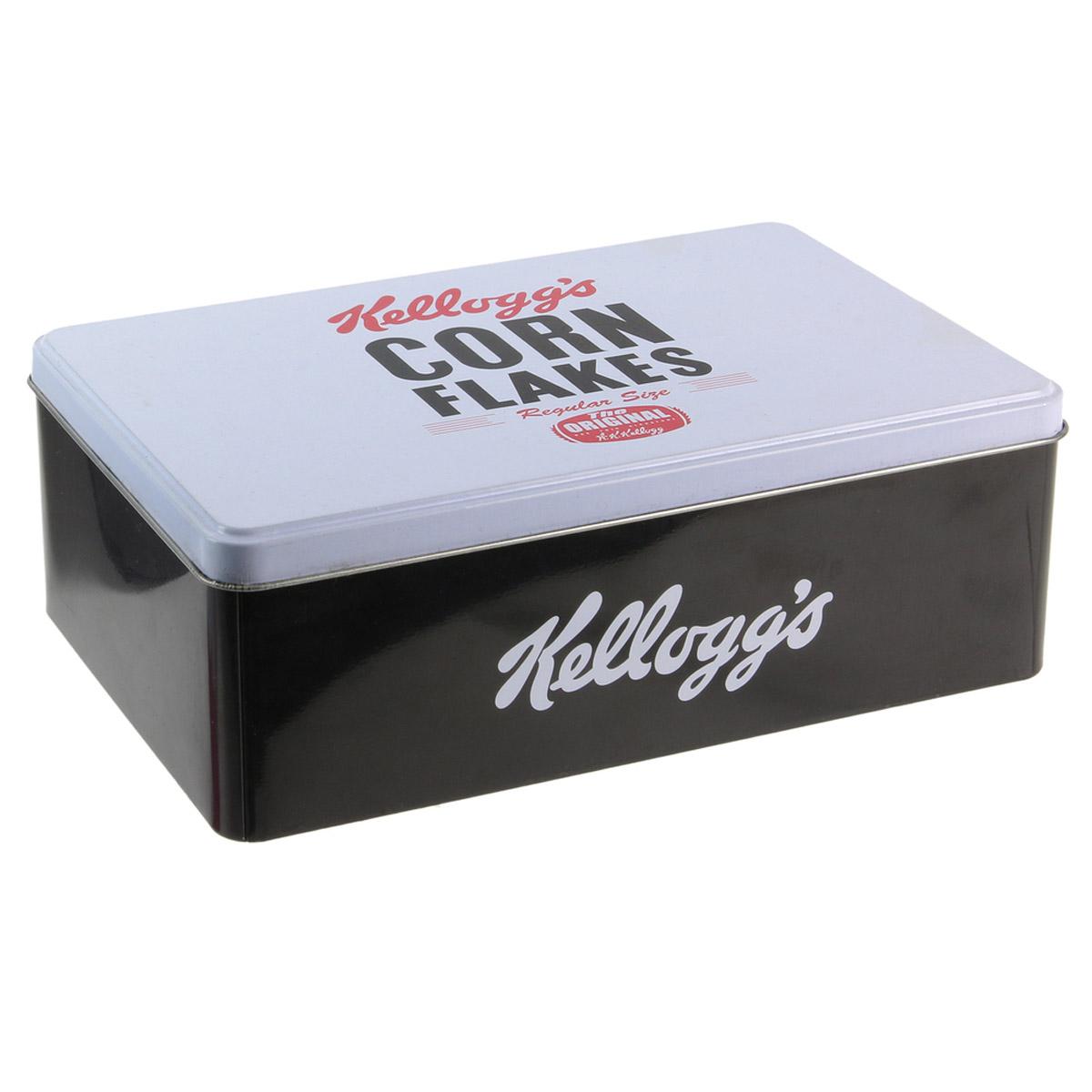 Boite à sucre \'Kellogg\'s\' noir blanc (corn flakes) - 195x13x7 cm - [R2435]