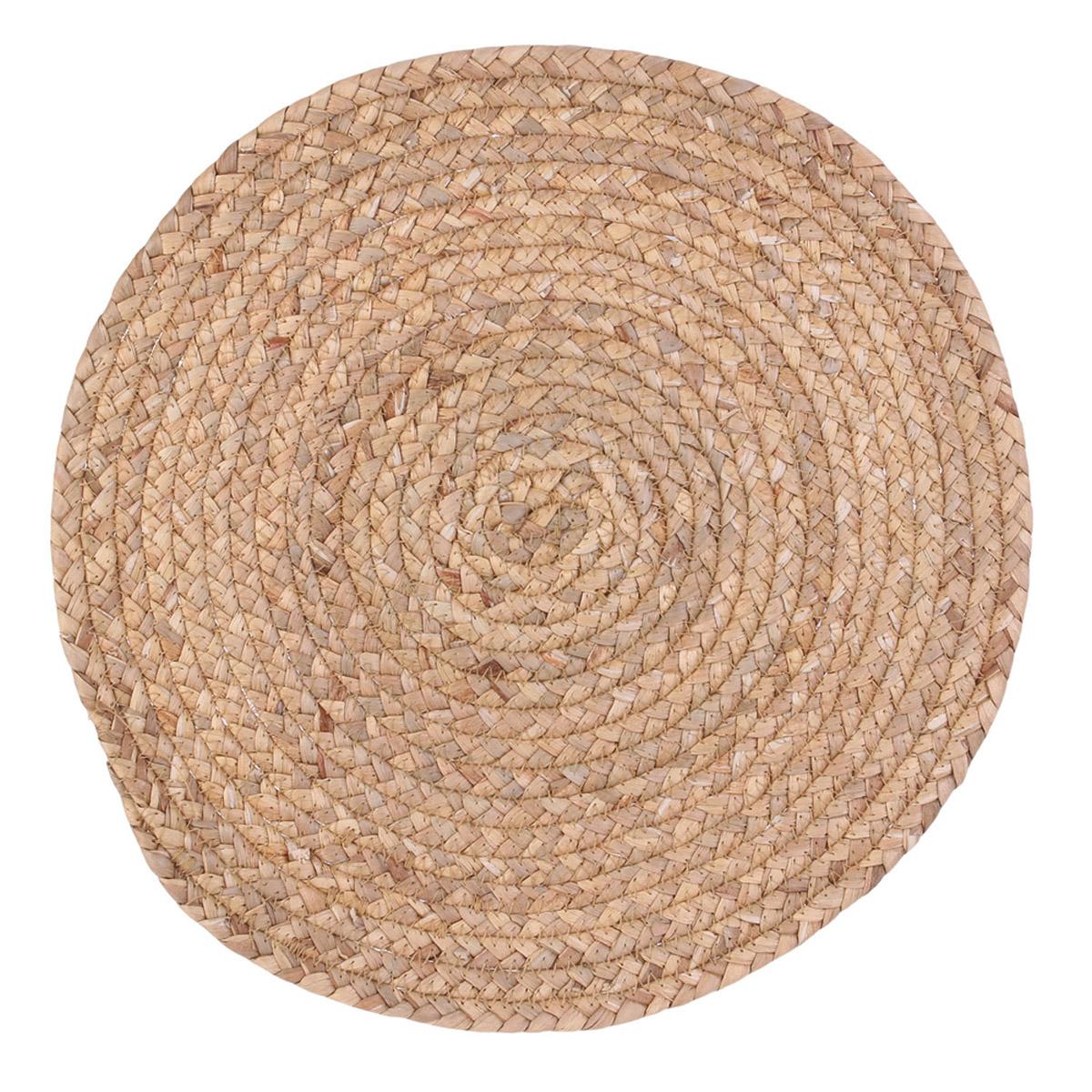 Set de table jonc de mer \'Boho\' beige - 38 cm - [R2512]