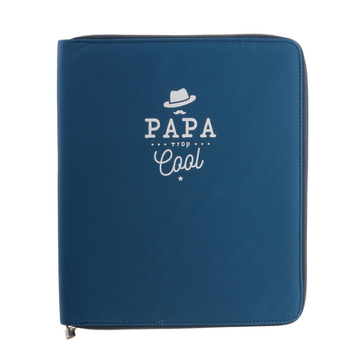 Organisateur tablette \'Papa\' bleu (Papa trop cool) - 25x21x2 cm (10\') - [R2885]