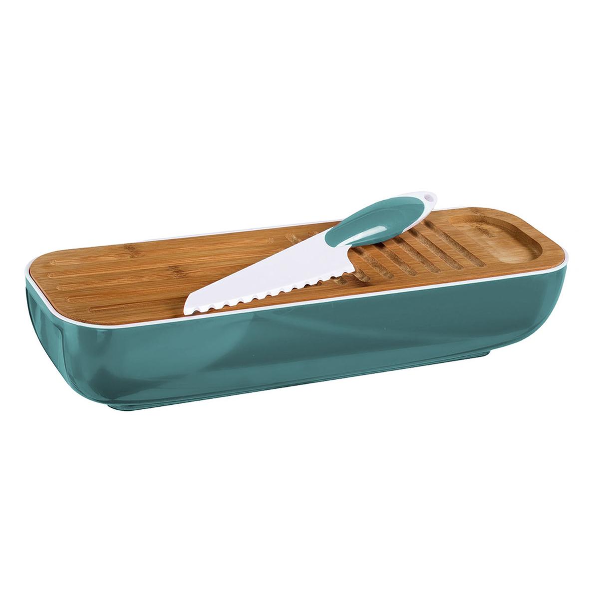 Boite à pain et couteau \'Coloriage\' turquoise - 40x125x95 cm - [R2897]