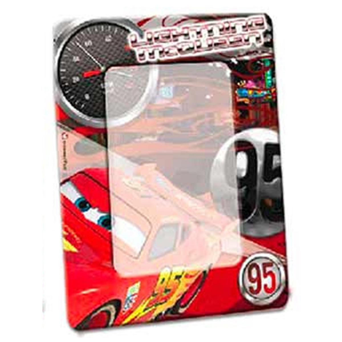 Cadre Photo métal \'Cars\' rouge noir - 19x15 cm, photo 13x9 cm - [R3060]