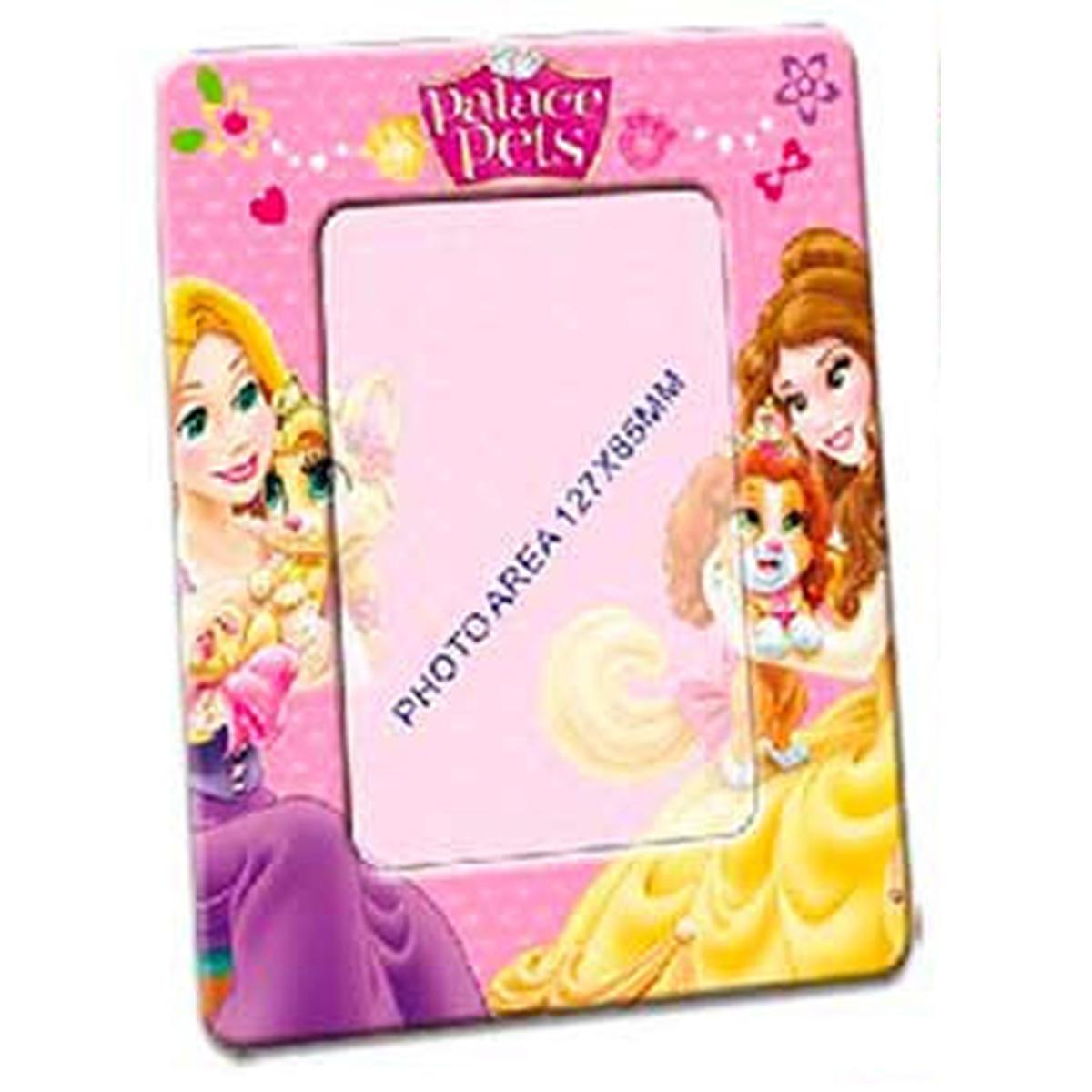 Cadre Photo métal \'Princesses Disney\' rose - 19x15 cm, photo 13x9 cm - [R3062]