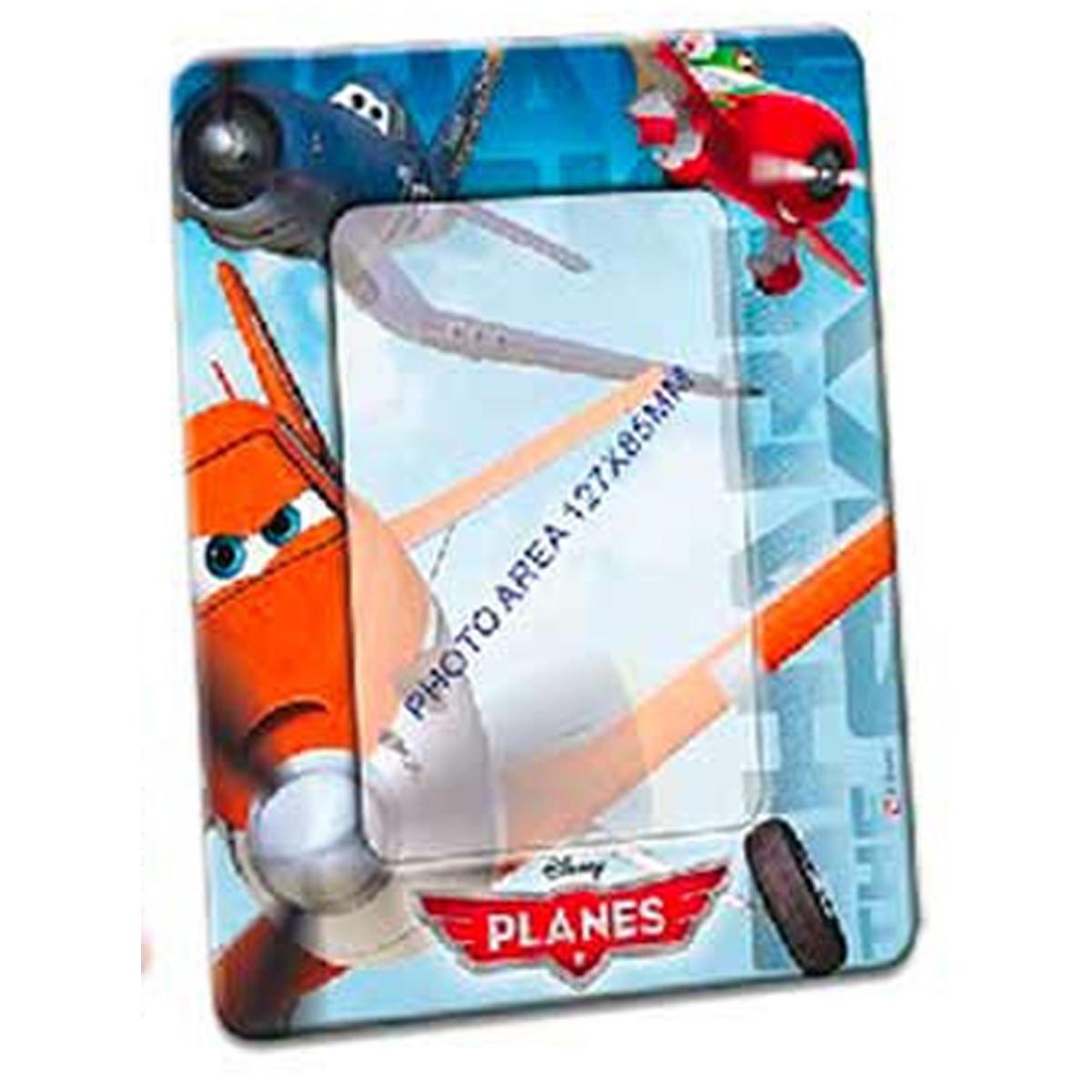Cadre Photo métal \'Planes\' bleu orange - 19x15 cm, photo 13x9 cm - [R3063]