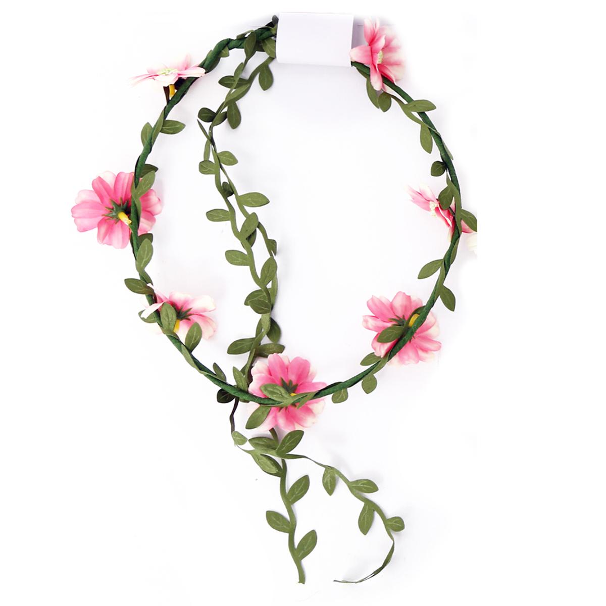 Couronne créateur \'champêtre \' rose - taille unique, diamètre 18 cm - [R3072]