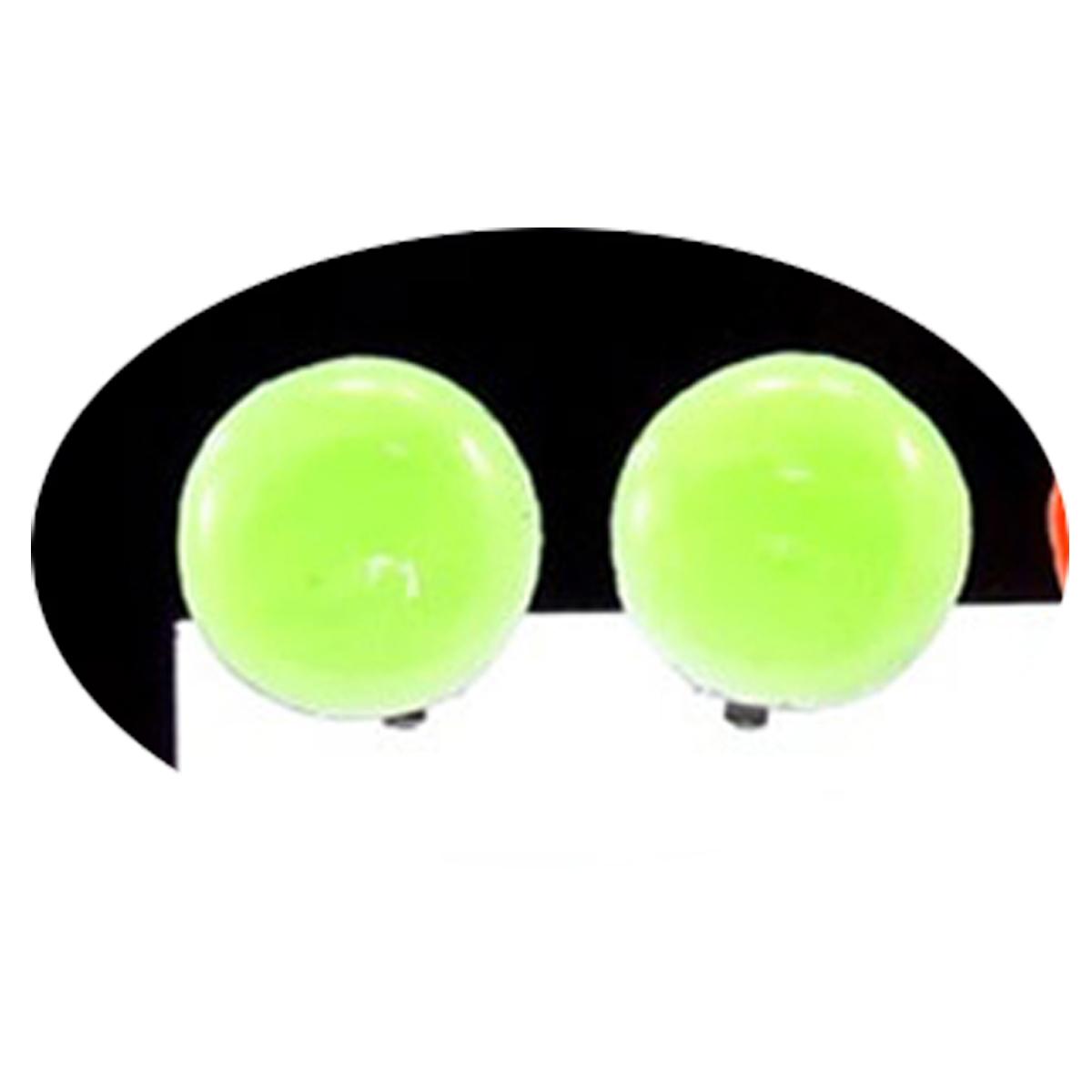 Boucles clips créateur \'Coloriage\' vert - 15 mm - [R3162]