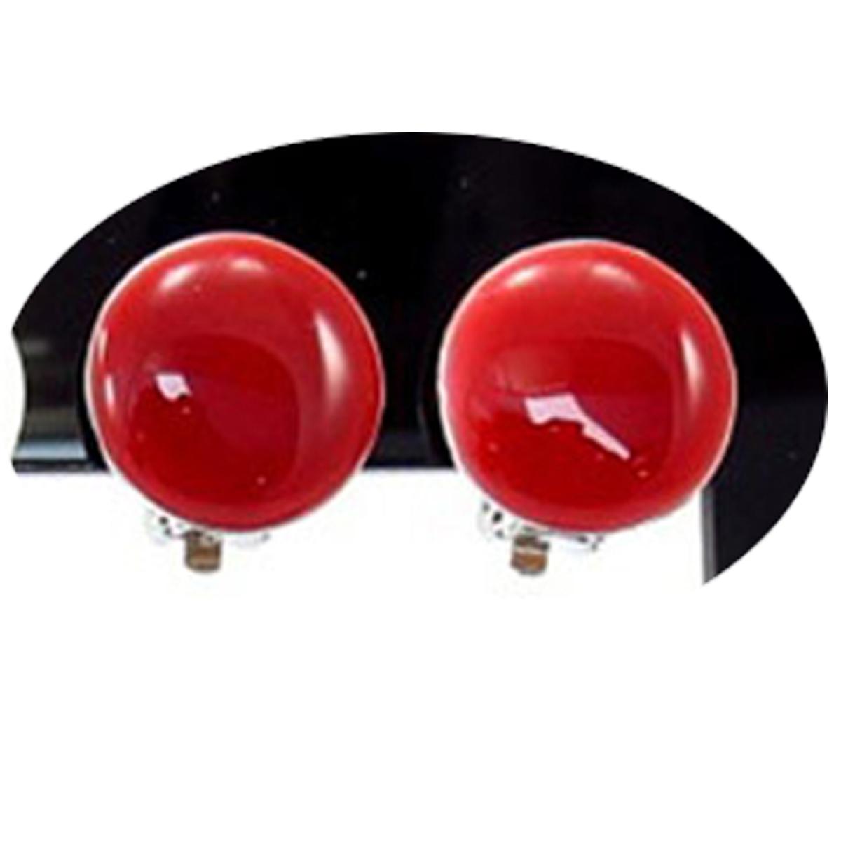 Boucles clips créateur \'Coloriage\' rouge - 15 mm - [R3163]