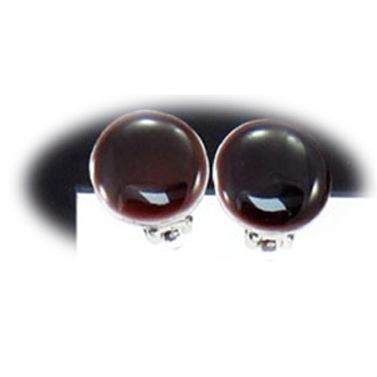 Boucles clips créateur \'Coloriage\' marron - 15 mm - [R3167]