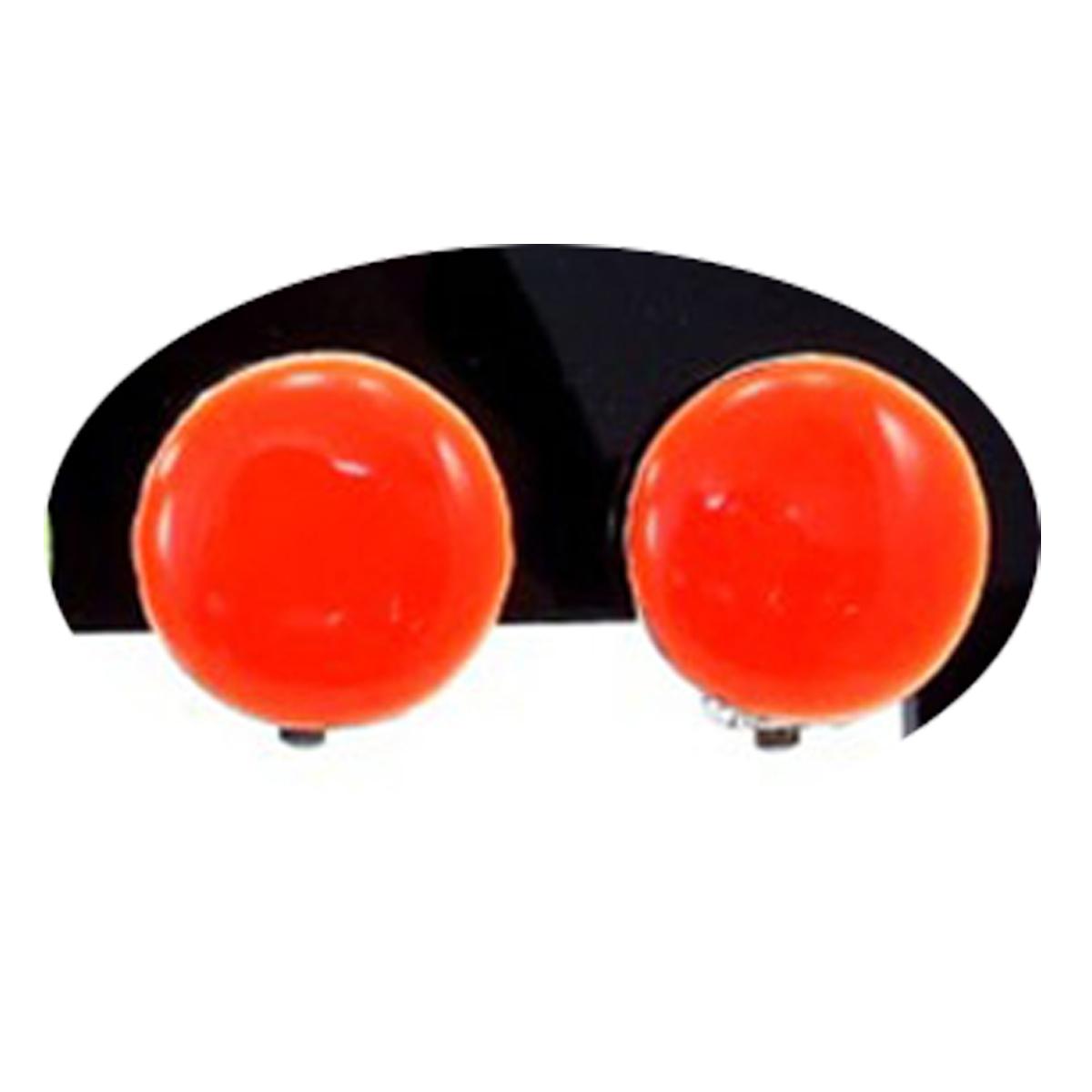 Boucles clips créateur \'Coloriage\' orange - 15 mm - [R3168]