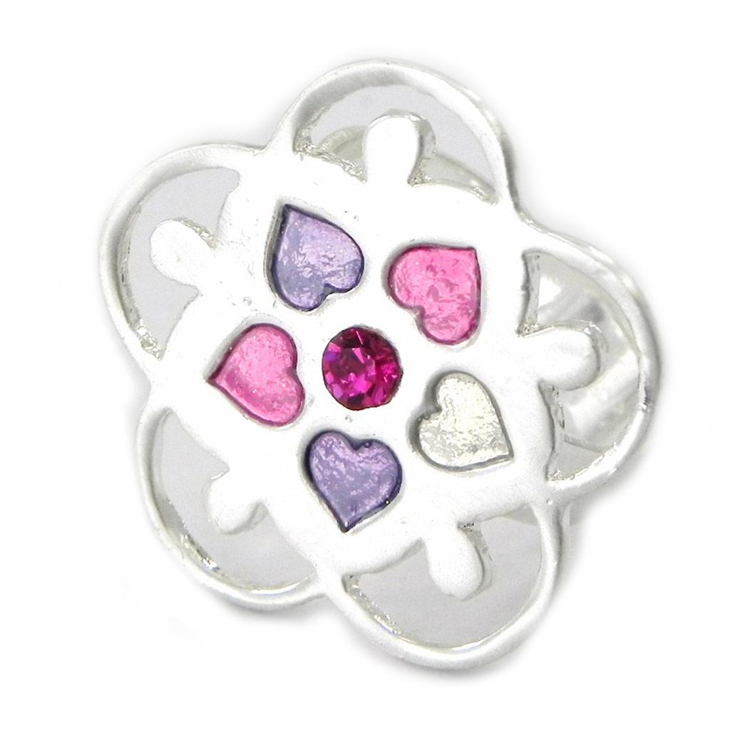 Bague Créateur \'Emilie\' rose violet - [G5724]