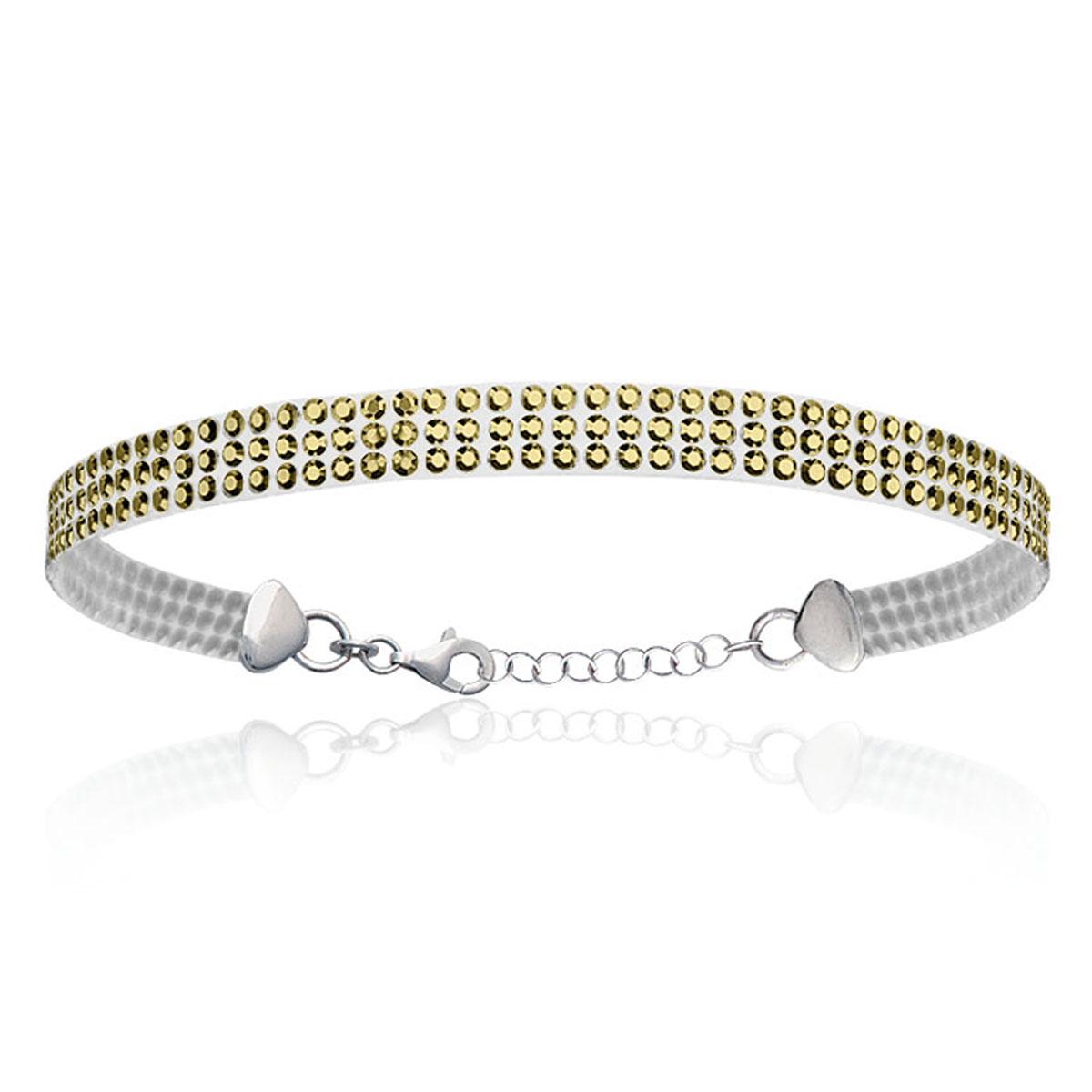 Bracelet Argent \'Sissi\' doré - 6 mm - [L5652]