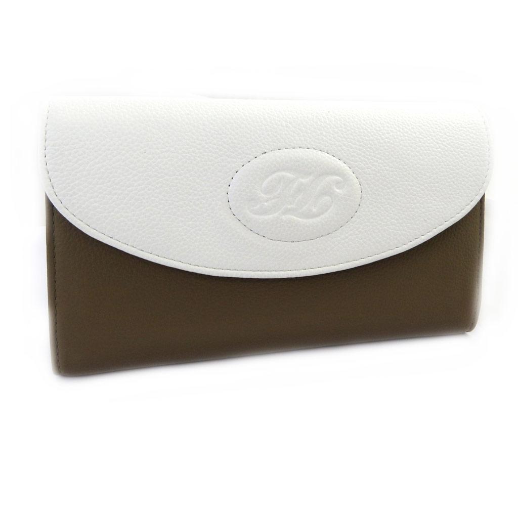 Compagnon cuir \'Vendôme\' blanc taupe - [L8654]