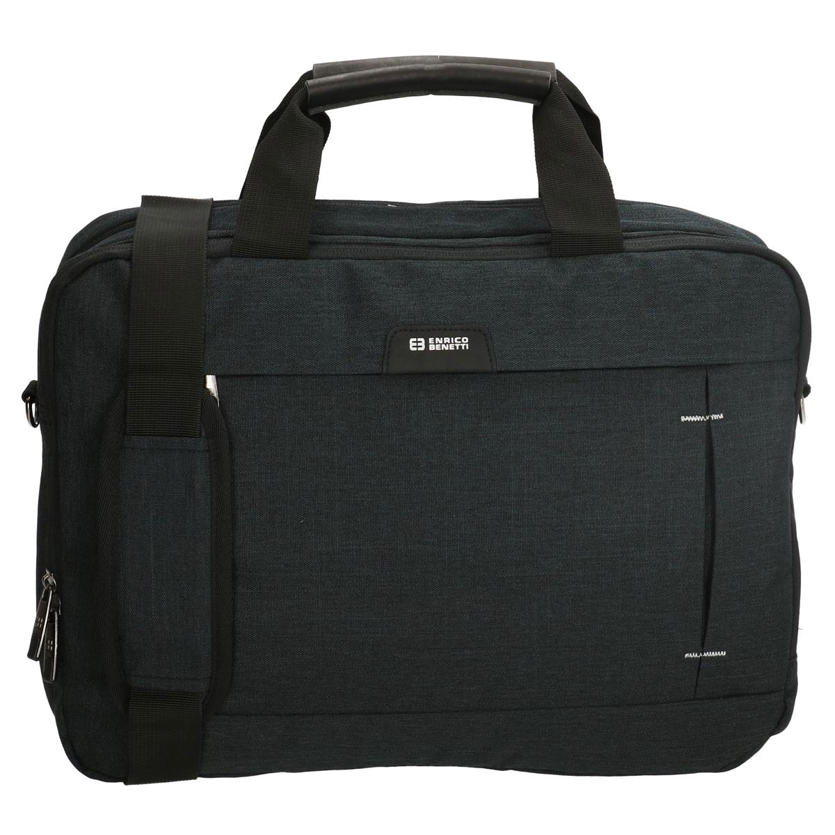 Serviette laptop \'Enrico Benetti\' noir (spécial ordinateur 15\') - 42x39x13 cm - [Q1787]