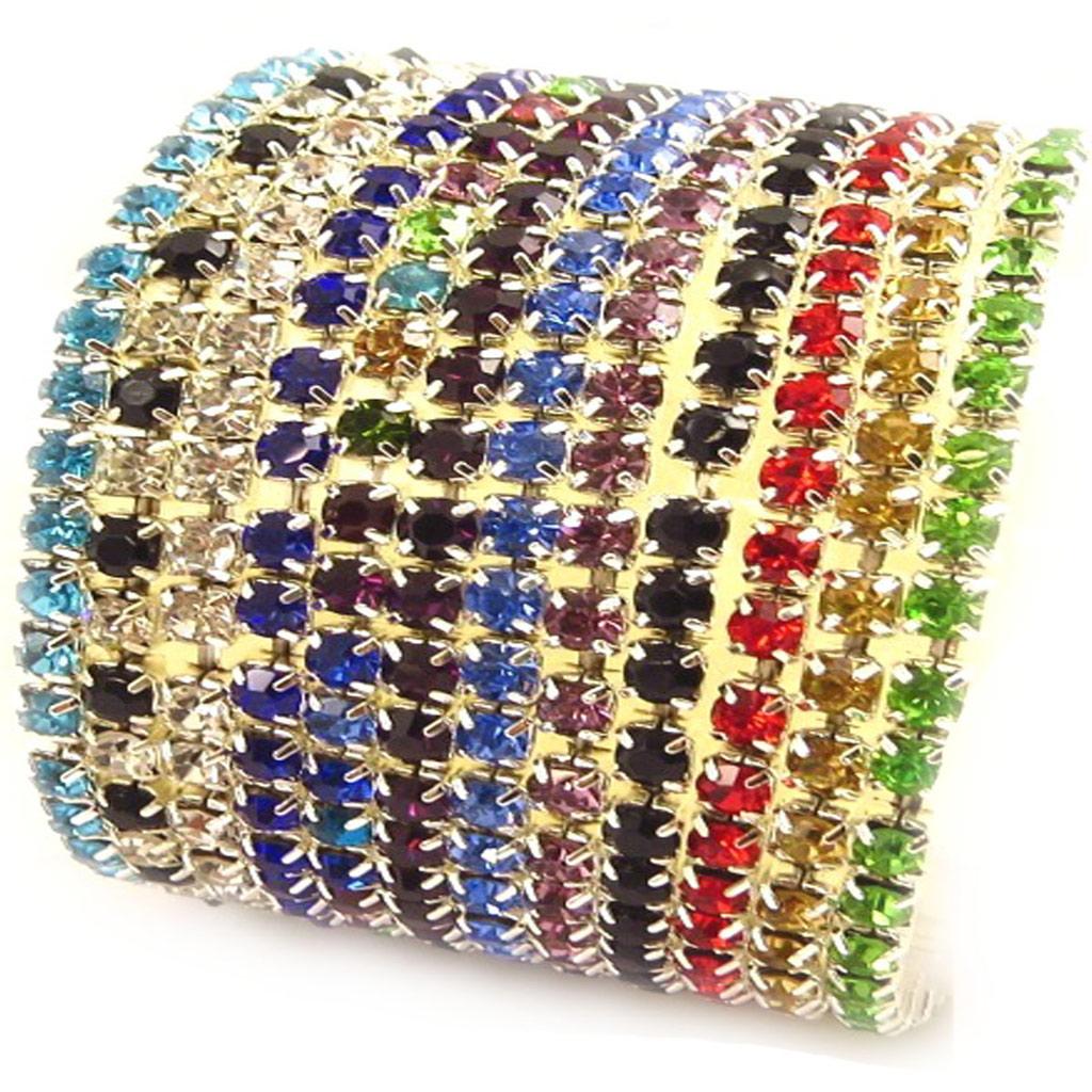 10 bracelets \'Strass\' tutti frutti - [K7461]