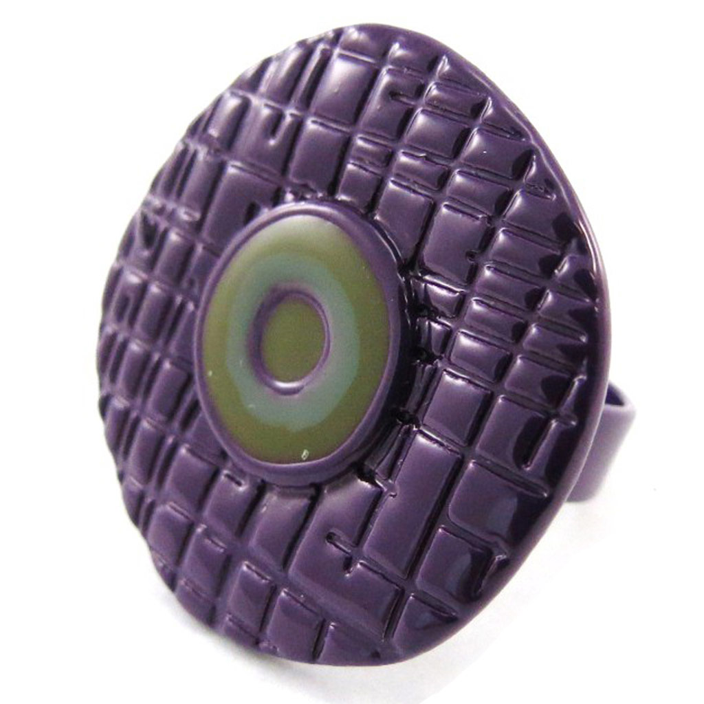 Bague Créateur \'Amandine\' violet - [J1894]