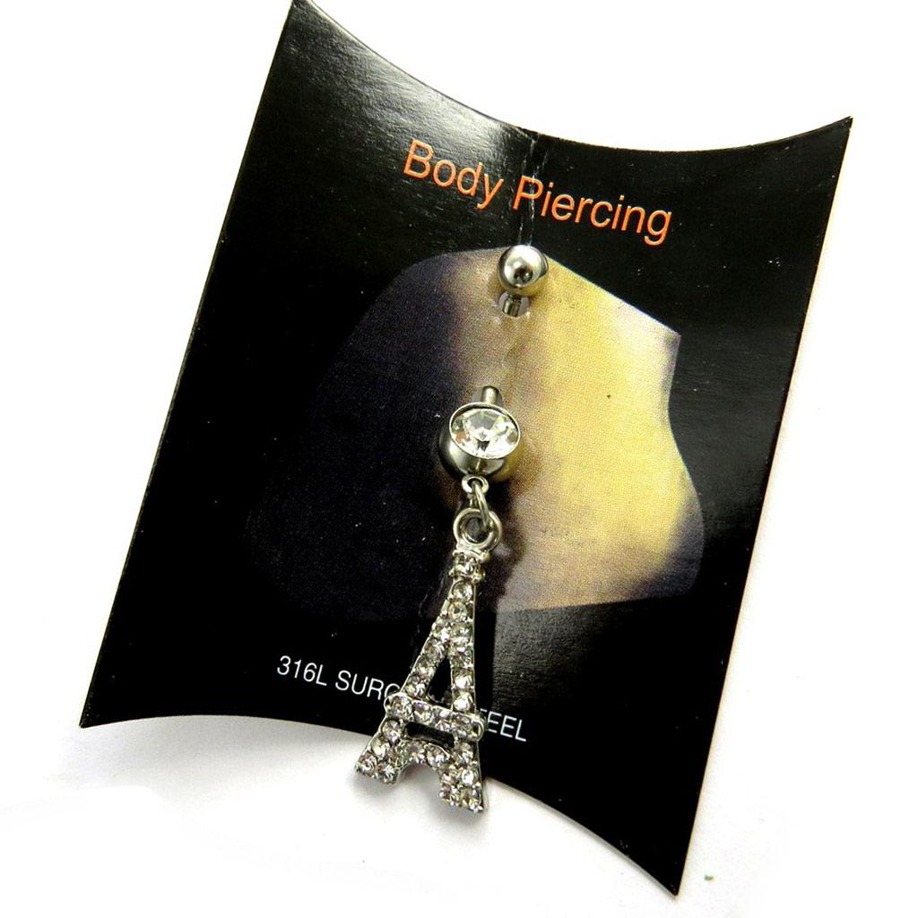 Body Piercing \'Tour Eiffel\' blanc - [N1689]