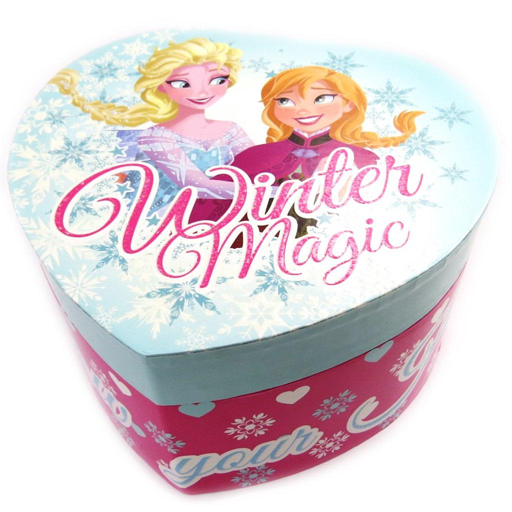 Coffret à Bijoux \'Frozen - Reine des Neiges\' bleu rose (coeur) - [M2209]
