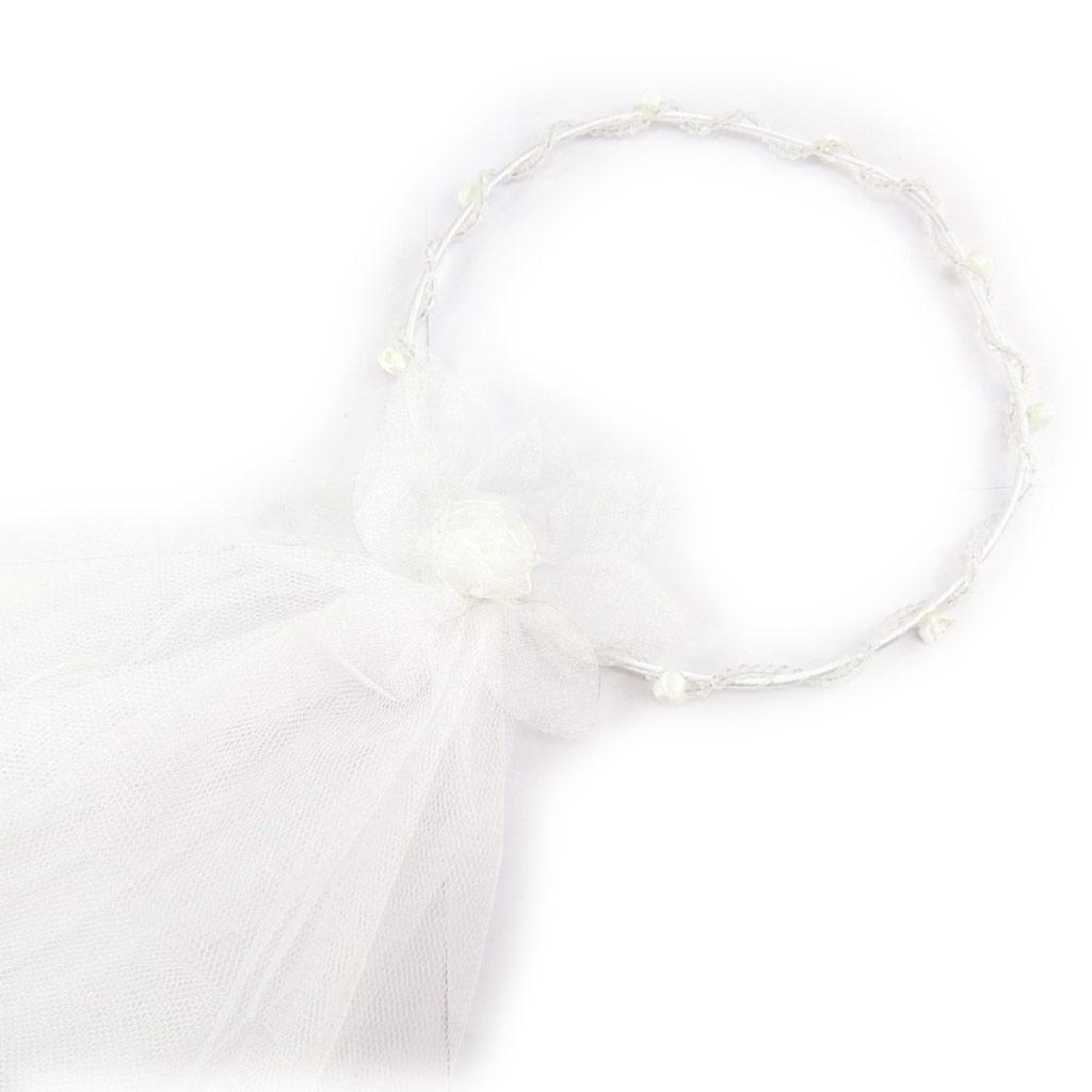 Couronne mariage \'Sissi\' blanc  - [K1395]