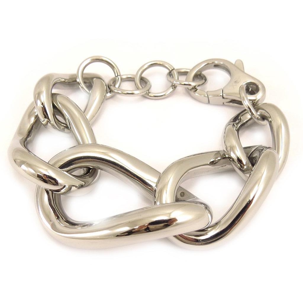 Bracelet acier \'Calypso\' argenté - [L2935]