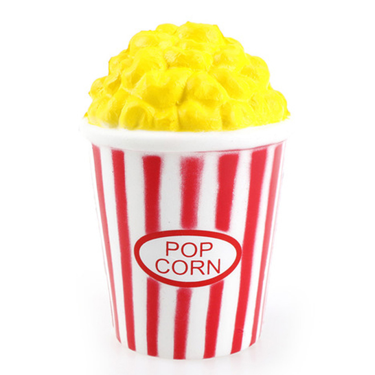 Anti-stress 3D squichy \'Pop Corn\' jaune rouge - 12x8 cm - [R0547]