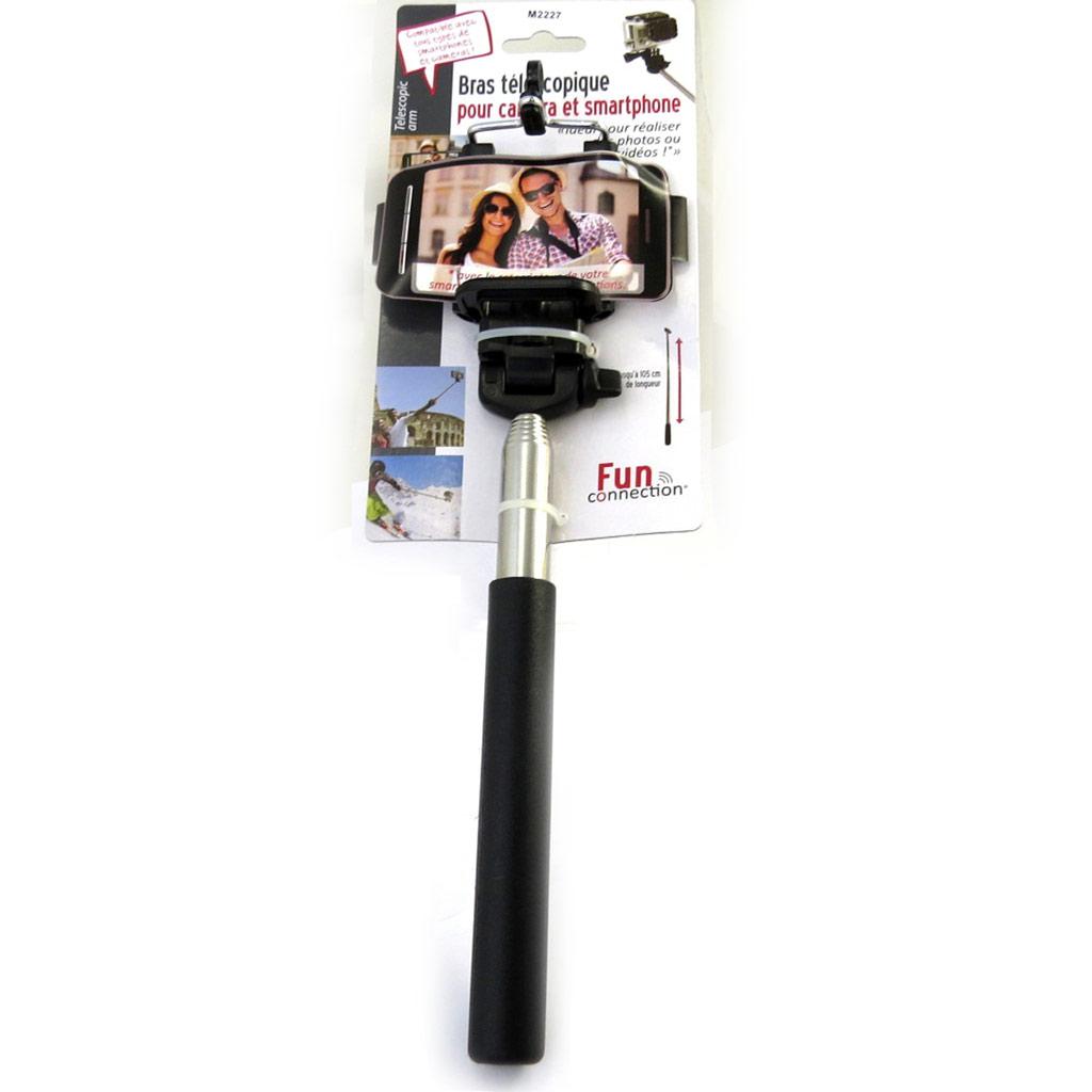 Bras téléscopique \'Selfies\' pour camera, smartphones - [M2227]