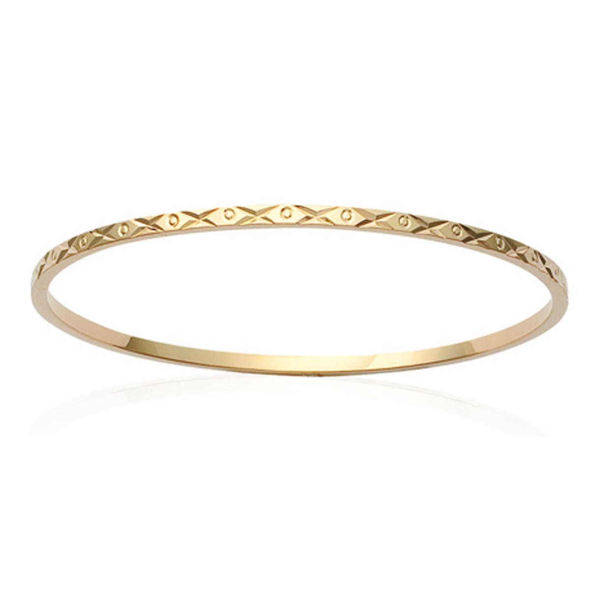 Bracelet Plaqué Or \'Chorégraphie\' doré - 62 mm 2 mm - [K1399]
