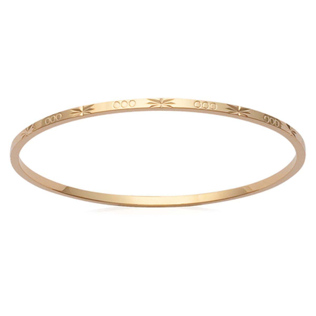 Bracelet Plaqué Or \'Chorégraphie\' doré - 62 mm 2 mm - [K1401]
