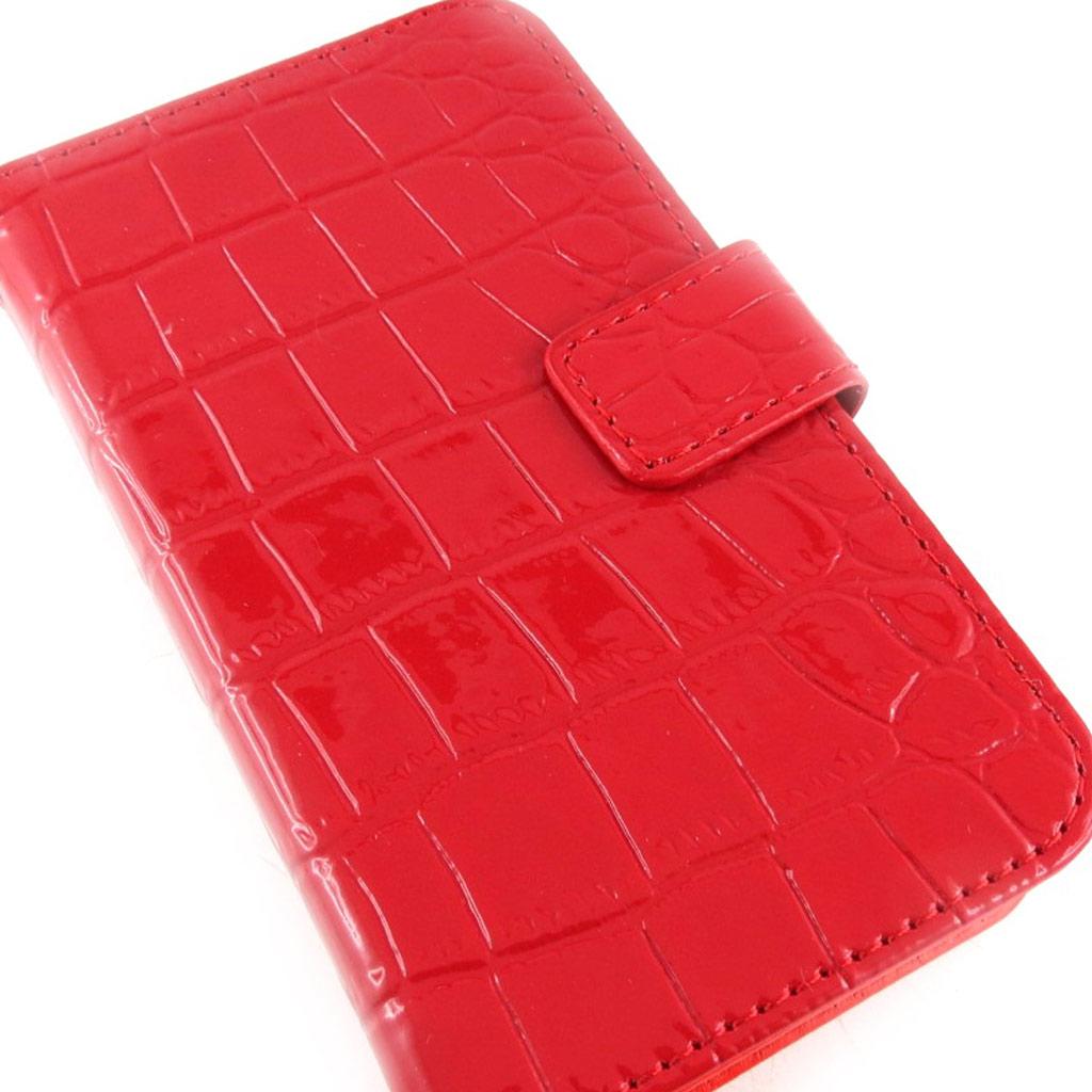 Coque téléphone \' Scarlett\' rouge croco (iPhone 4 4s) - [K7494]