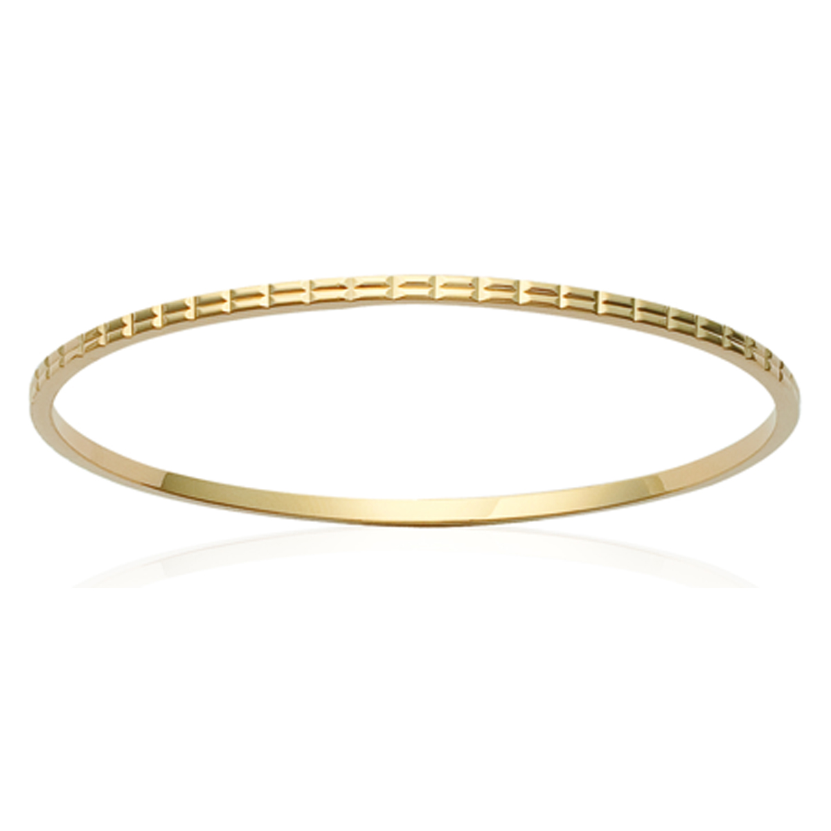 Bracelet Plaqué Or \'Chorégraphie\' doré - 62 mm 2 mm - [K1407]