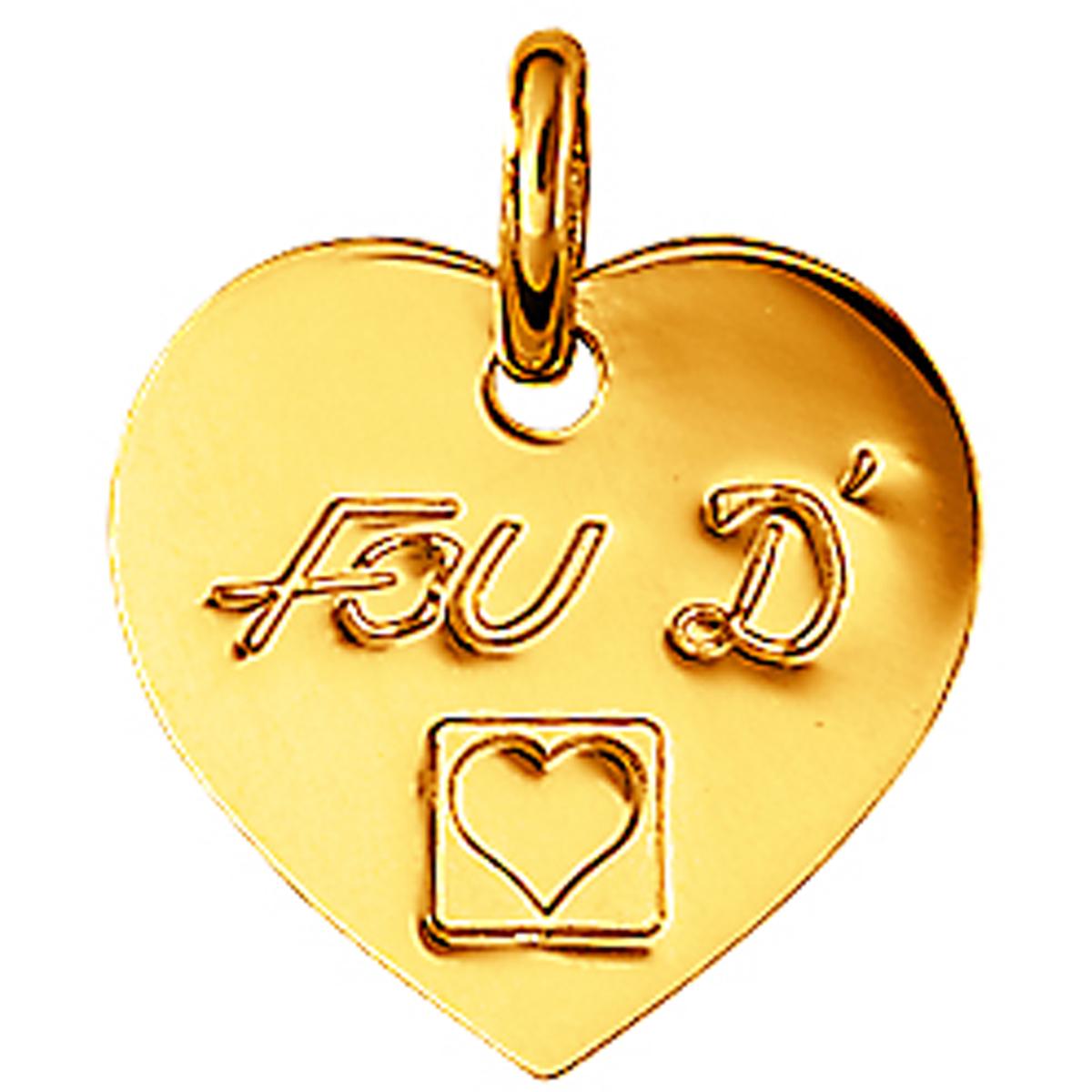 Pendentif Plaqué Or \'Love\' fou d\'amour - [L0115]