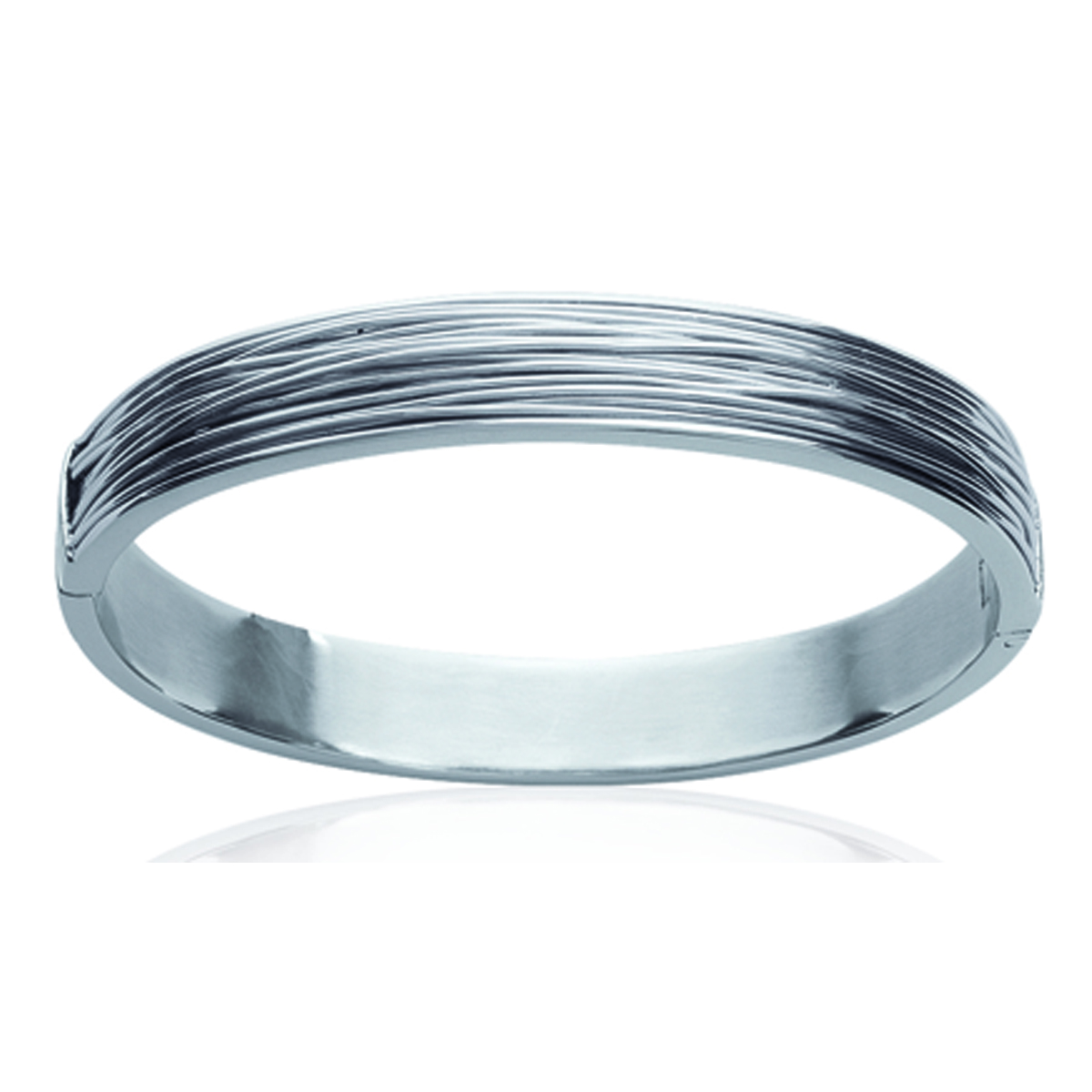 Bracelet Acier \'Chorégraphie\' argenté - 62 mm 10 mm - [K1409]