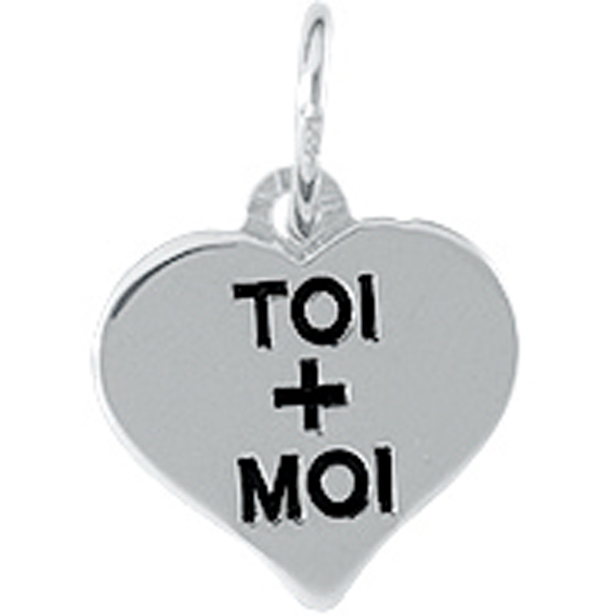 Pendentif argent \'Love\' Toi + Moi - [L0126]
