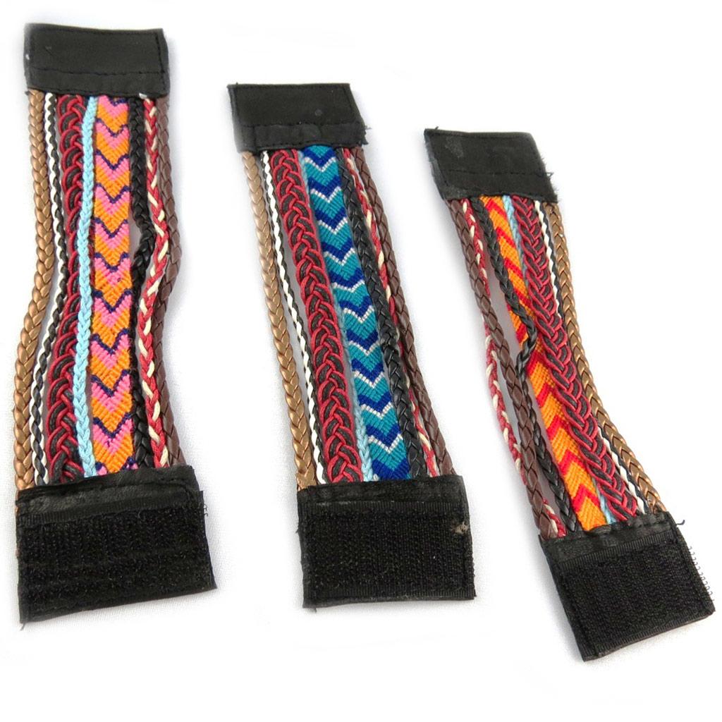 3 bracelets ethniques \'Kilimanjaro\' tutti frutti - [K7503]