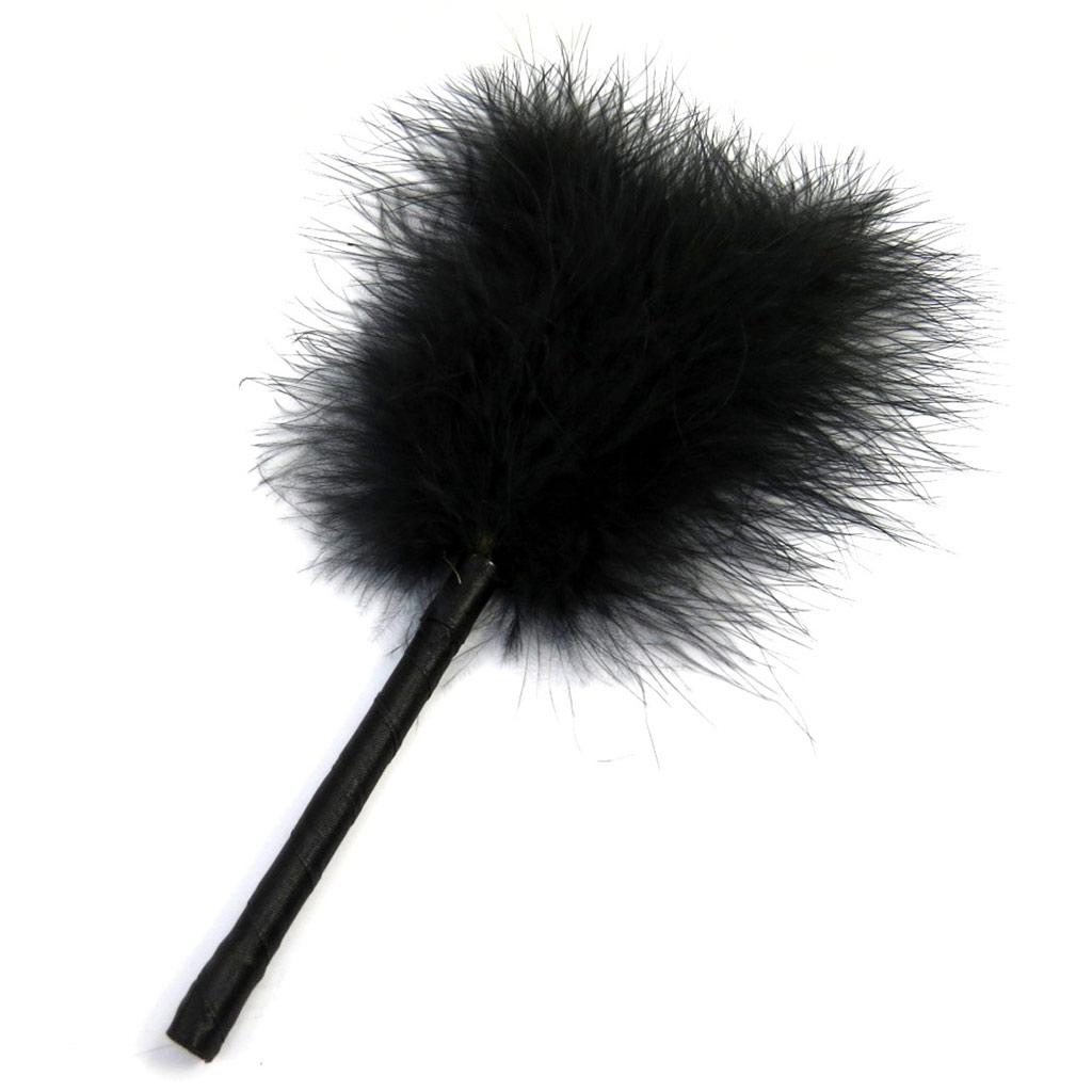 Plumeau \'Kika\' noir (23 cm) - [M2419]