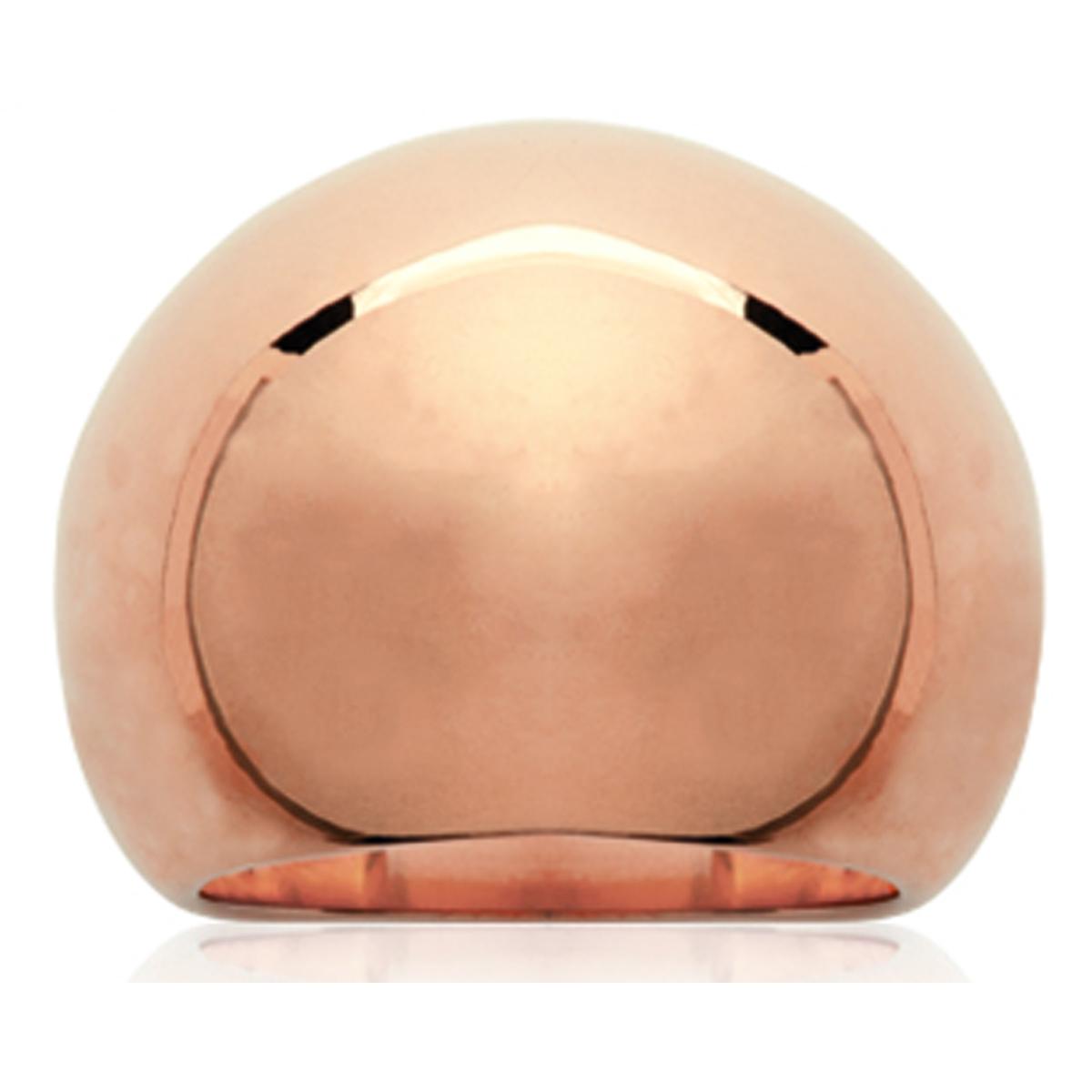 Bague acier \'Voluptueuse\' doré rosé (gold pink) - 20 mm - [N3353]