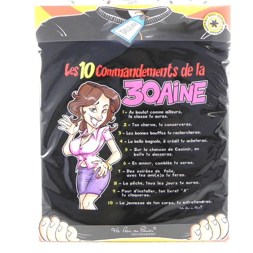 T-shirt \'10 commandements\' 30 ans - [H6946]