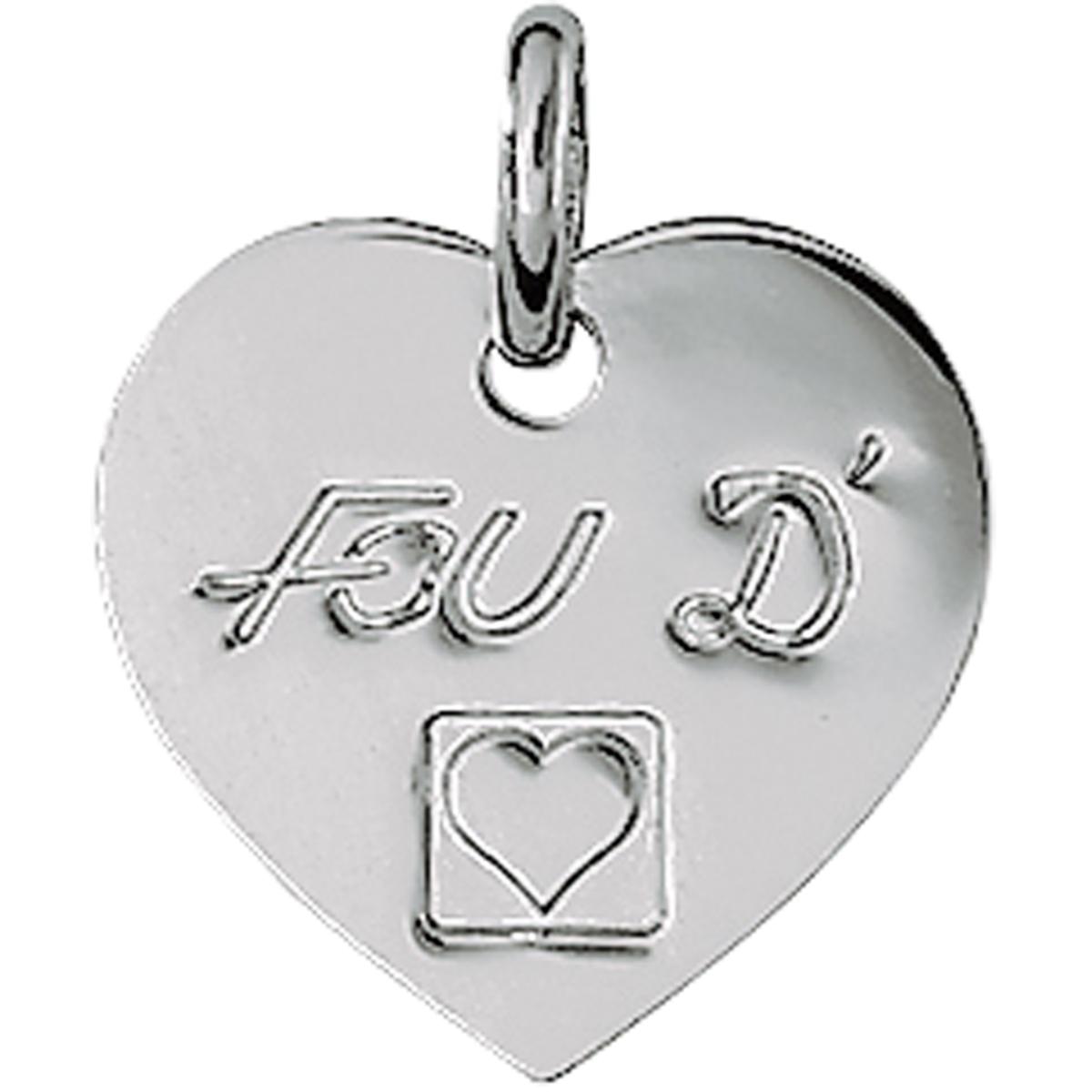 Pendentif argent \'Love\' fou d\'amour - [L0143]