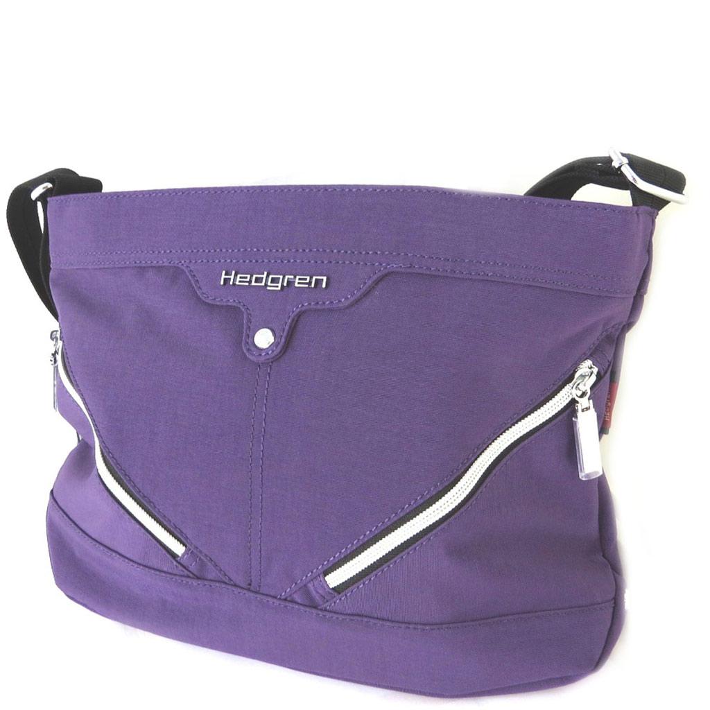 Sac bandoulière \'Hedgren\' violet (3 compartiments) - 33x23x10 cm - [N7800]