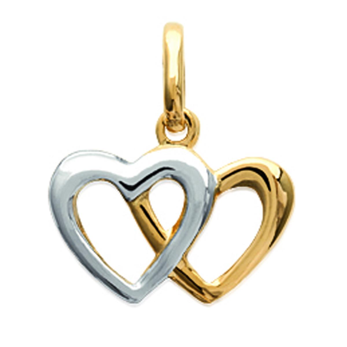 Pendentif Plaqué Or \'Love\' doré argenté - 15x14 mm - [M8823]