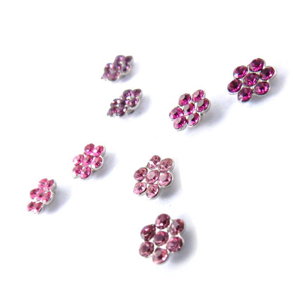 4 paires de boucles \'Sissi\' rose violet (Swarovski) - [J6267]
