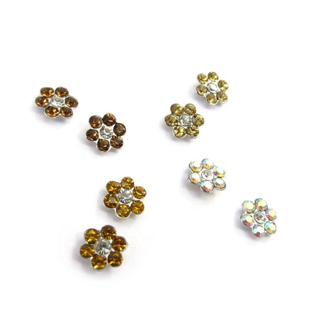 4 paires de boucles \'Sissi\' ambre blanc (Swarovski) - [J6268]