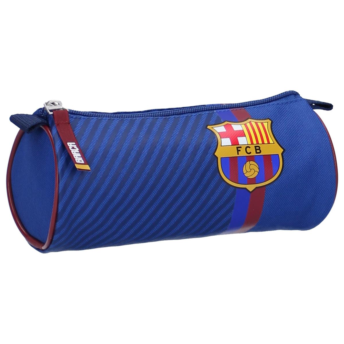 Trousse tube \'FC Barcelona\' bleu rouge - 20x9 cm - [A0067]
