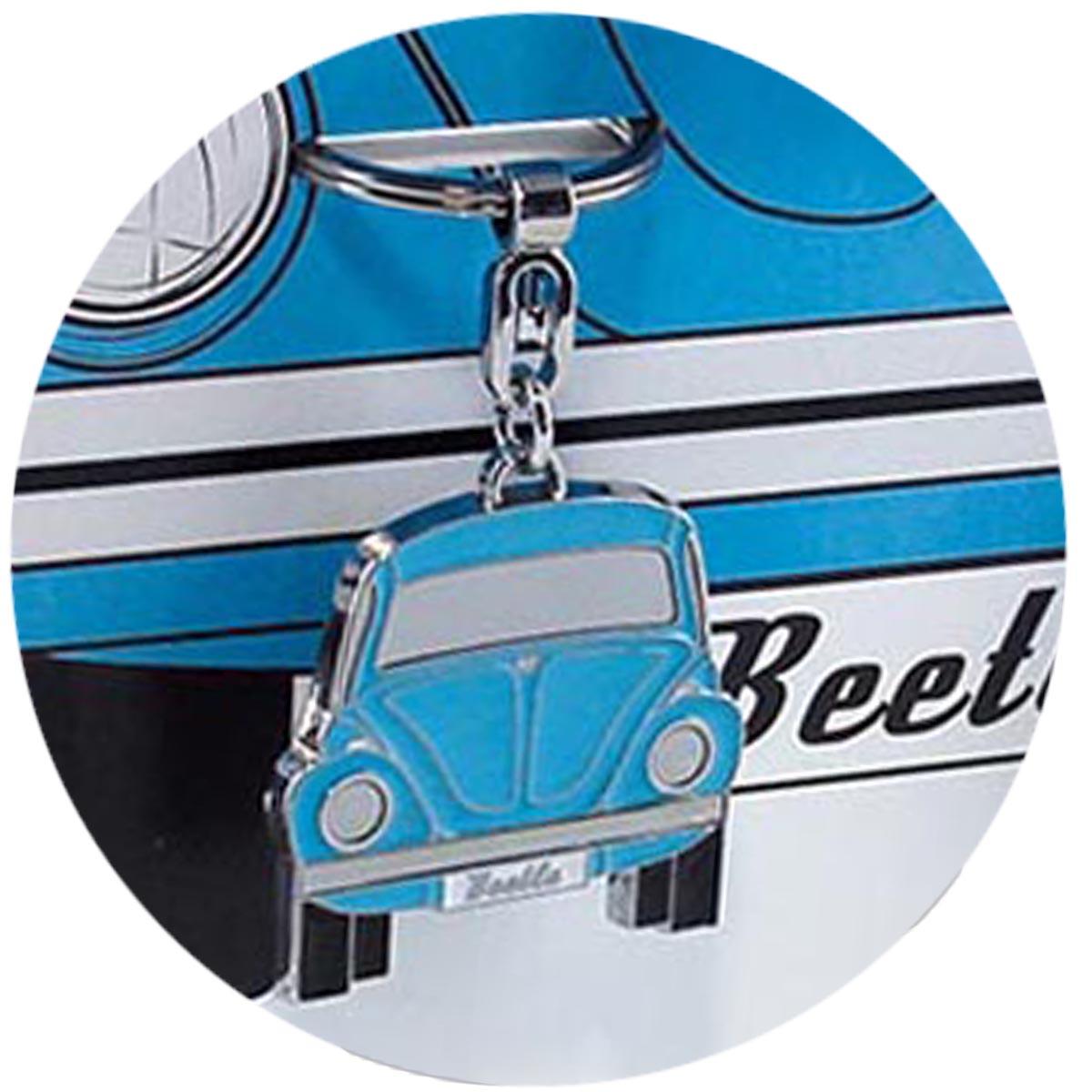 Porte-clés créateur \'Volkswagen\' bleu (coccinelle) - 10x4 cm - [R0581]
