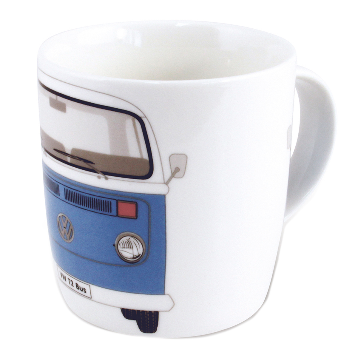 Mug porcelaine \'Volkswagen\' bleu vintage - 93x85 mm (37 cl) - [Q1840]